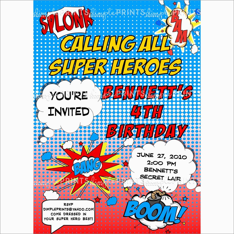 Unique Free Printable Superhero Birthday Invitation Templates | Best - Free Printable Superman Invitations