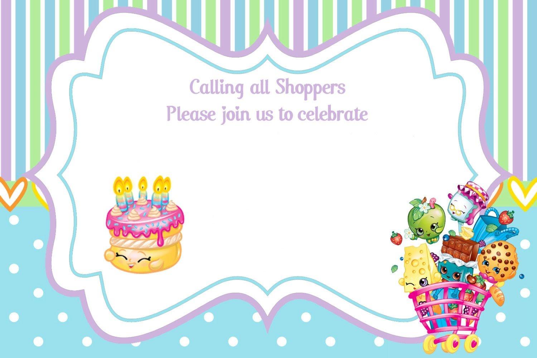 Updated - Free Printable Shopkins Birthday Invitation Template - Free Printable Shopkins Birthday Invitations
