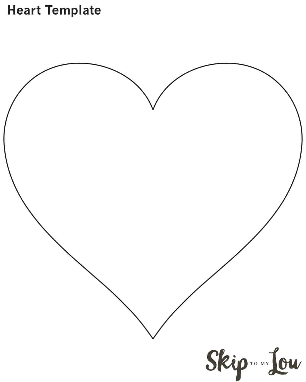 Valentine Heart Attack Idea With Free Printable Heart Template - Free Printable Valentine Heart Patterns
