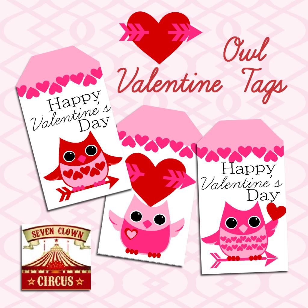 Valentine Owl Printable Tags {Free Printable}   Valentine's Day - Free Printable Valentine's Day Stencils