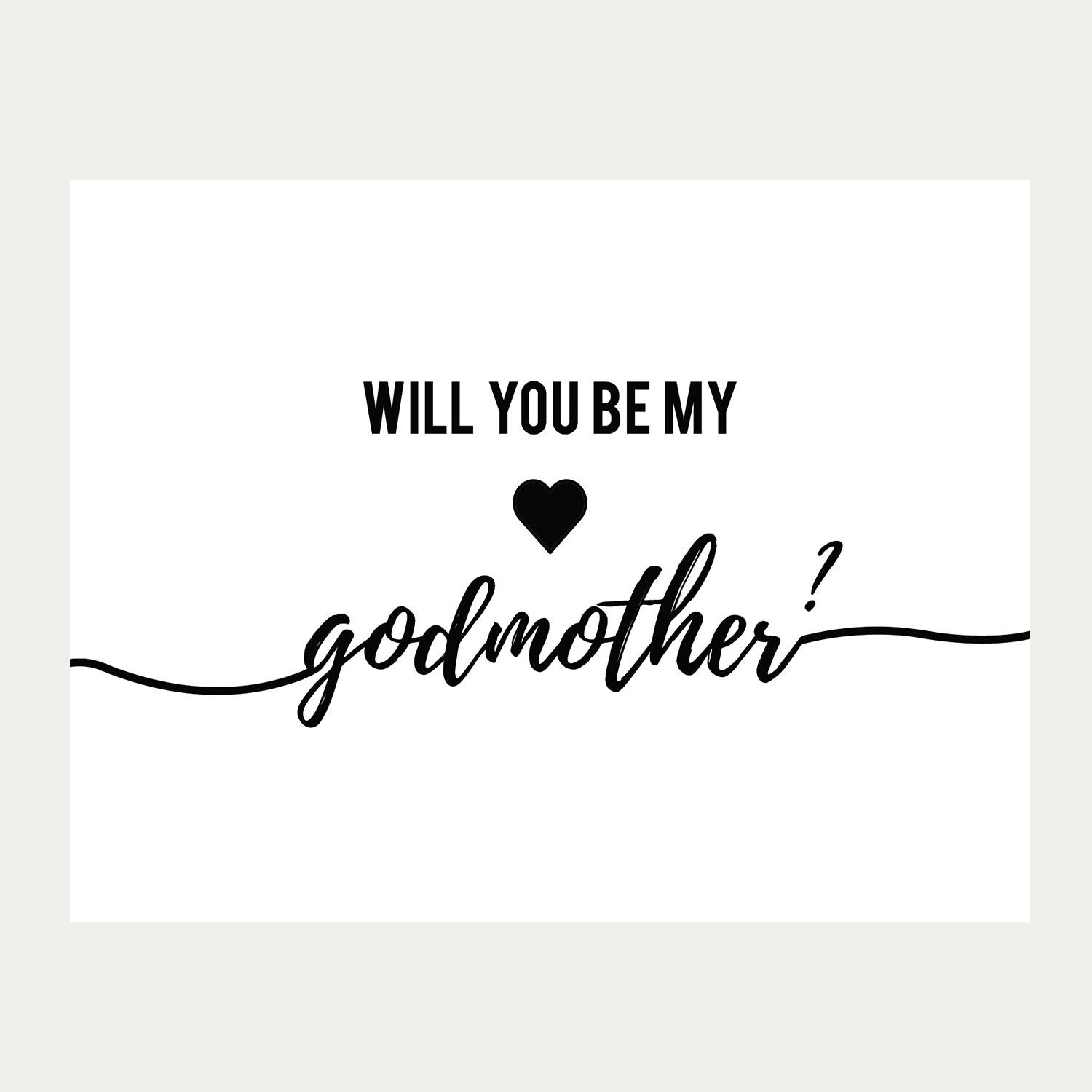 Will You Be My Godmother Card Printable Baptism Card   Etsy - Will You Be My Godmother Printable Card Free