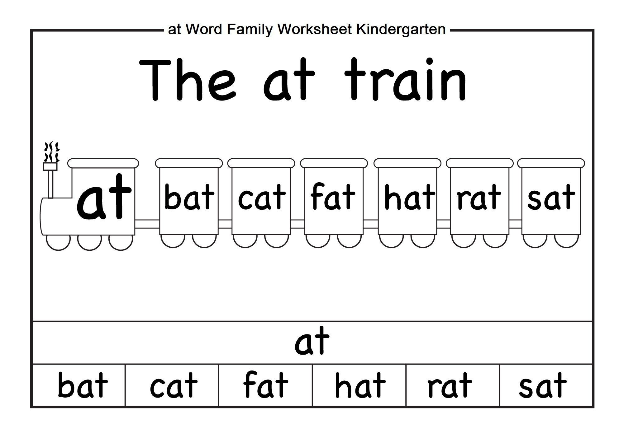 Word Family Worksheets Kindergarten | Briefencounters - Free ...