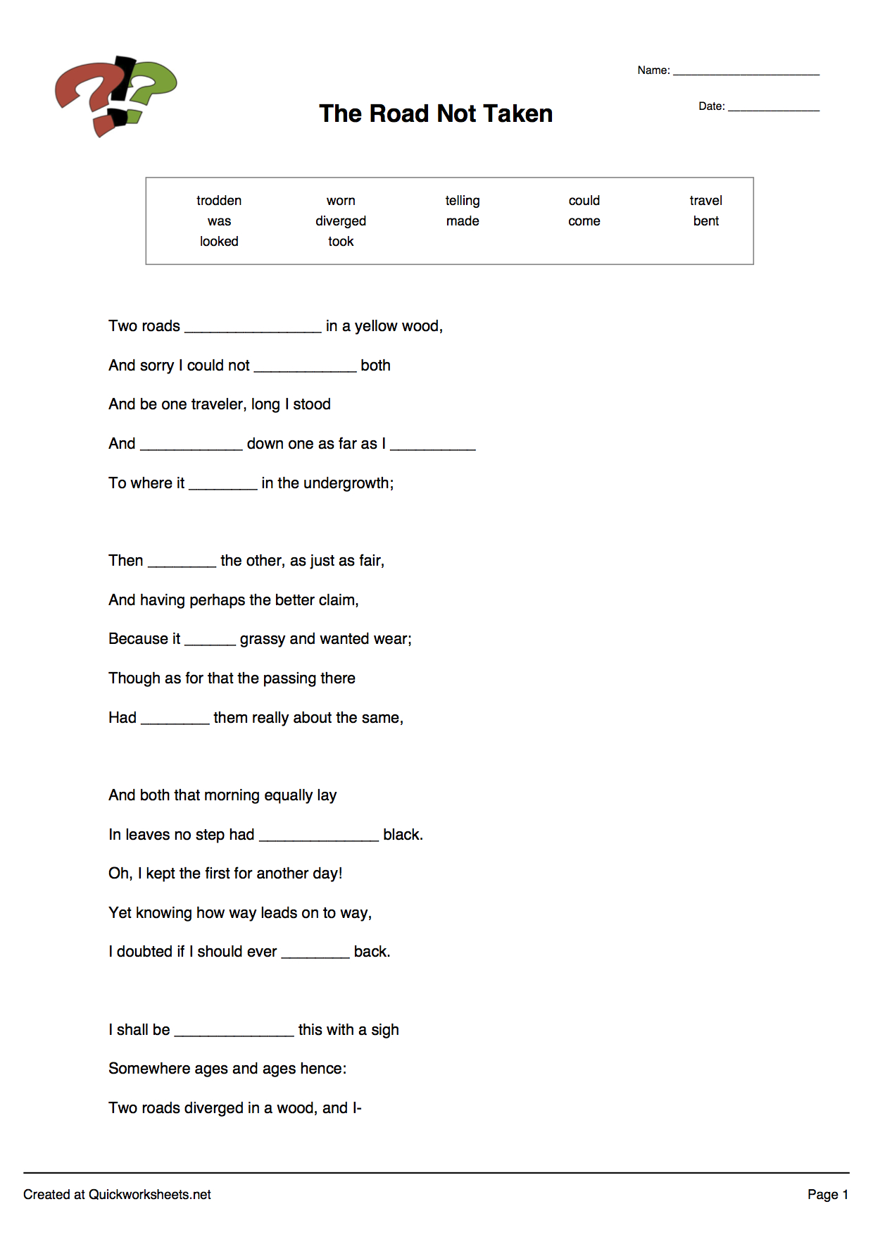 Word Scramble, Wordsearch, Crossword, Matching Pairs And Other - Free Printable Multiple Choice Spelling Test Maker