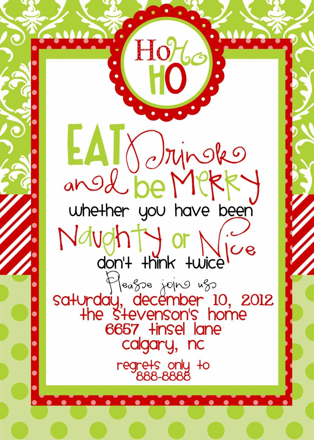 Wording For Christmas Party Invitation | Party Invitation, Cakes - Holiday Invitations Free Printable
