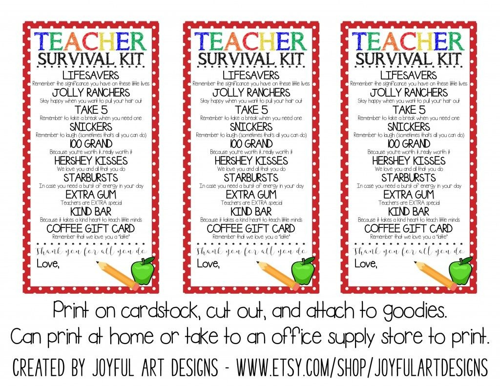 Workin It Wednesdays: Organized Back To School + Free Printable | My - Teacher Survival Kit Free Printable