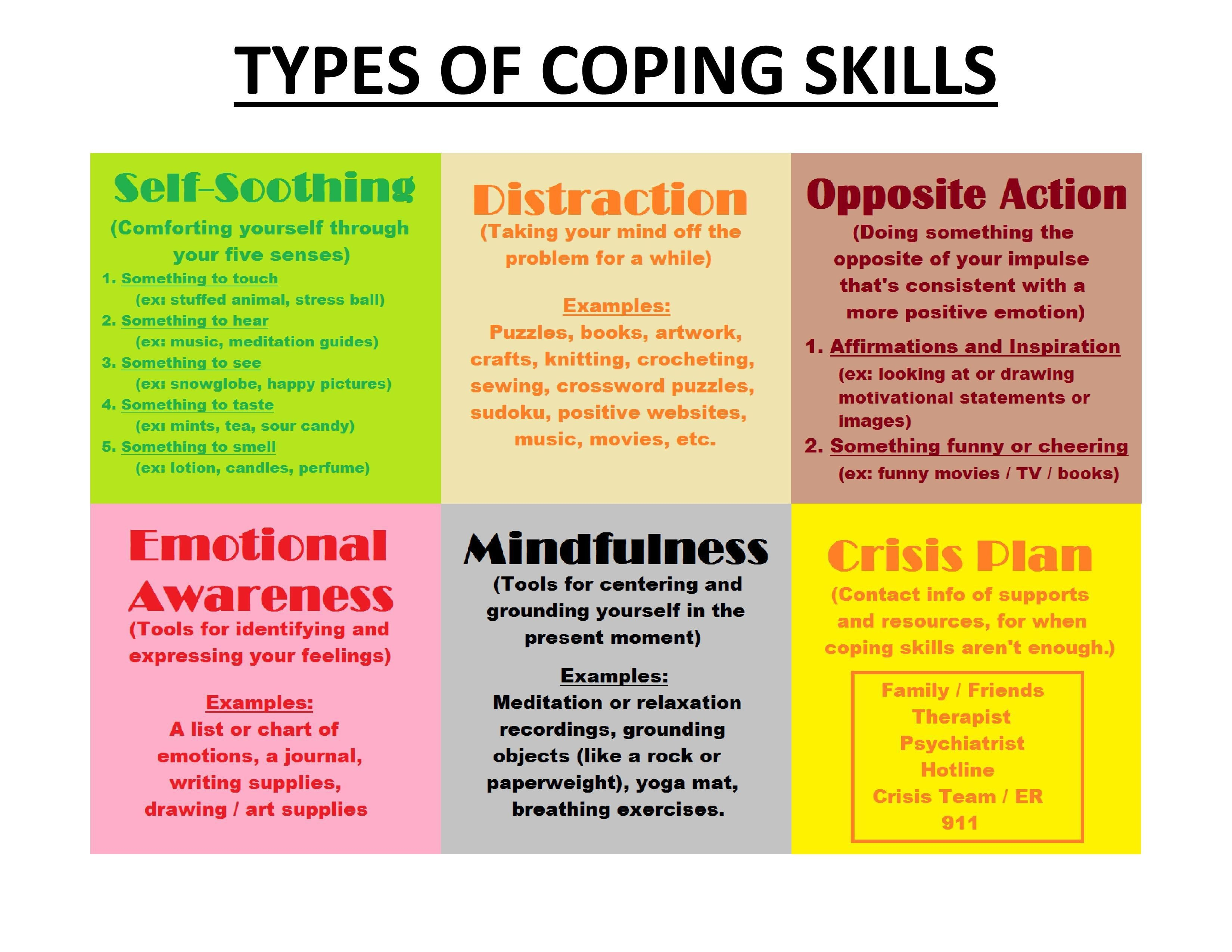 Free Printable Coping Skills Worksheets For Adults   Free ...