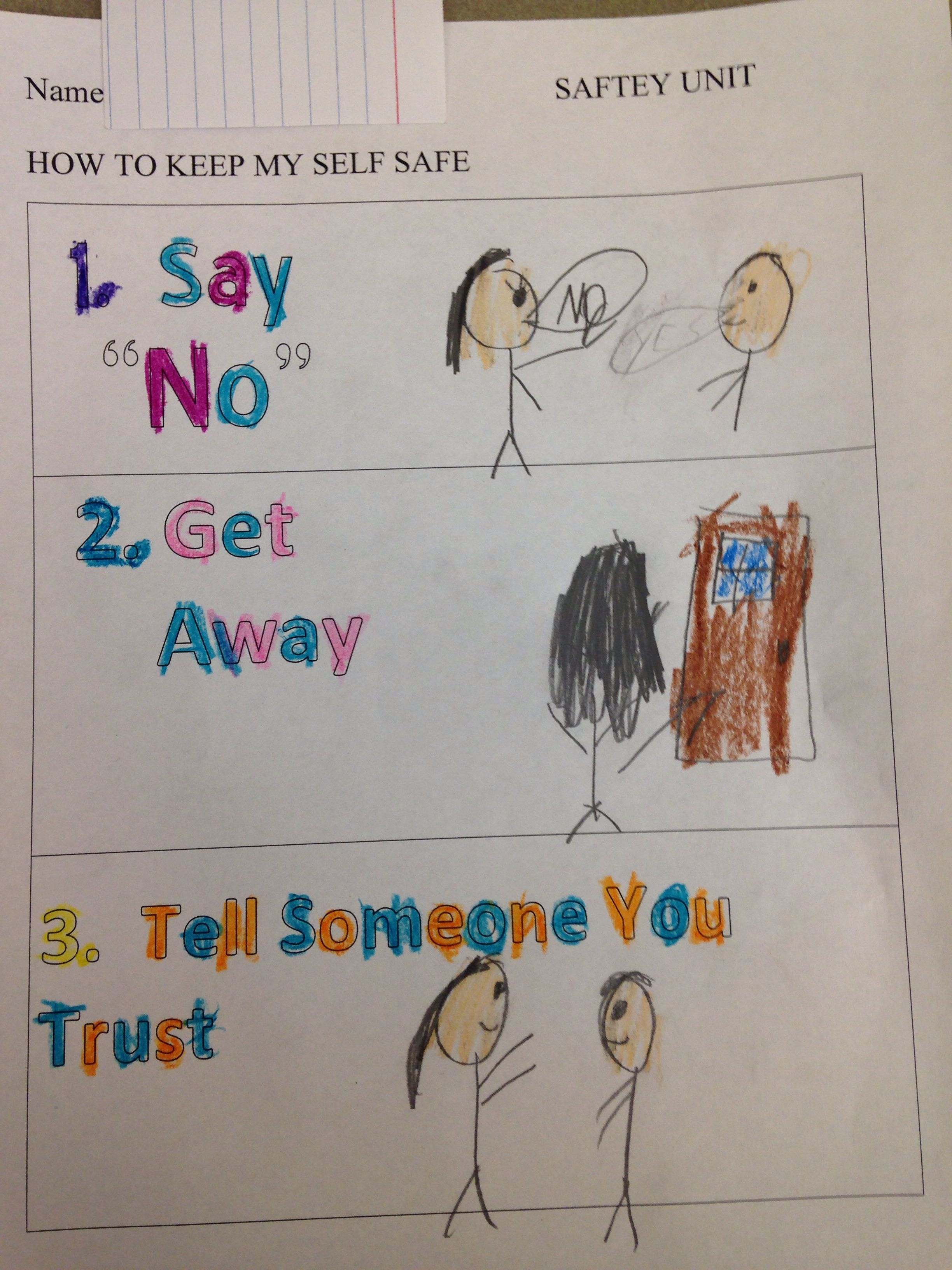 Worksheets From The First Lesson In My Safety Unit. We Talked About - Free Printable Good Touch Bad Touch Coloring Book