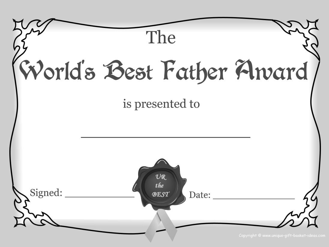 Worlds+Greasest+Dad+Certificate+Award+Images+White+And+Black   Free - Free Printable Best Daughter Certificate