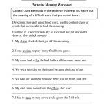 Write The Meaning Context Clues Worksheet | Context Clues | Context - Free Printable 5Th Grade Context Clues Worksheets
