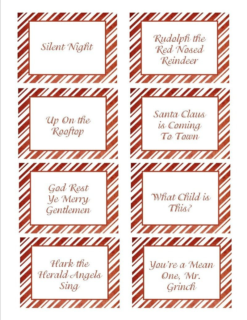 You Can Use These Printable Cards To Play Several Christmas Games - Free Printable Christmas Pictionary Cards